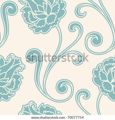Vintage flower seamless pattern - stock vector