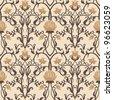 vintage flowers vector pattern - stock vector