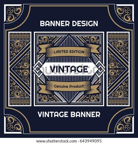Vintage Flyer Background Design Template Vector Illustration Stock ...