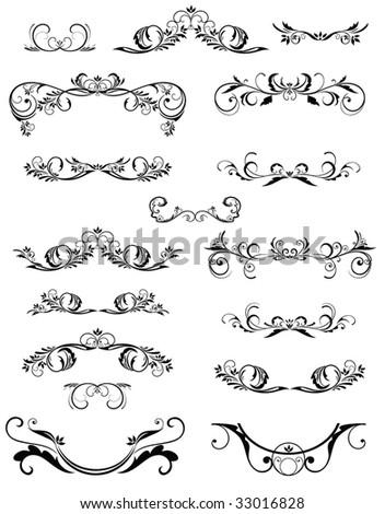 Vintage frame and design elements - stock vector