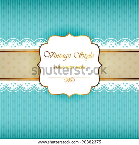 Vintage frame background - stock vector