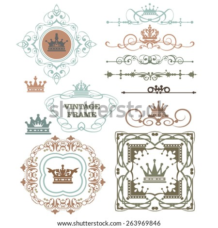 vintage frame decorative element  - stock vector