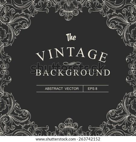 Vintage Frame Design Template - stock vector