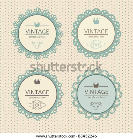 vintage frame design. vector illustration - stock vector