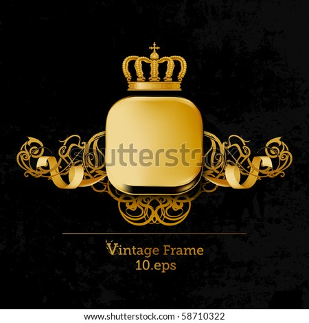 Vintage Frame, eps10 - stock vector