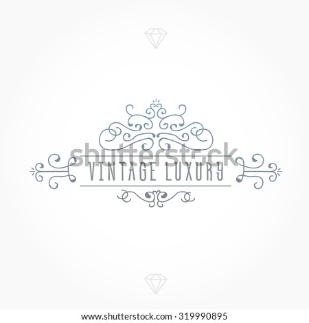 Vintage frame luxury logos greeting cards stock vector 319990895 vintage frame for luxury logos greeting cards restaurant boutique business and hotel m4hsunfo Gallery