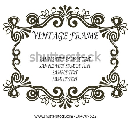 Vintage frame in retro style. Jpeg version also available in gallery - stock vector