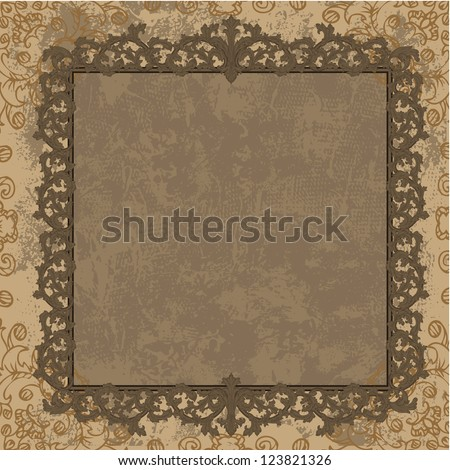 Vintage frame in the Baroque style - stock vector