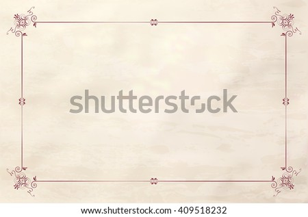 Vintage frame on grungy sepia paper background - place for your text. Vector illustration. - stock vector