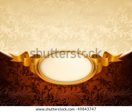 Vintage frame ornament, vector - stock vector