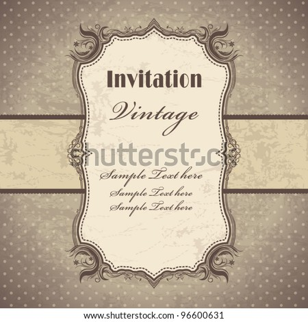 Vintage frame template (3) - stock vector