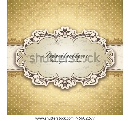 Vintage frame template (4) - stock vector