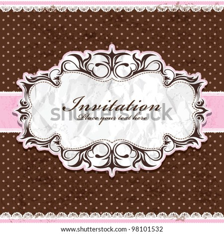 Vintage frame template (8) - stock vector