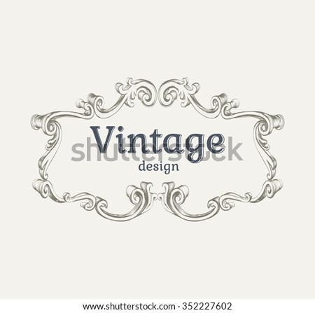 Vintage frame template  Vector Illustration Template