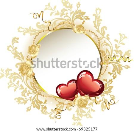 Vintage Frame Valentine's Day - stock vector