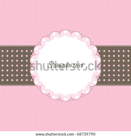 Vintage frame with heart and text - stock vector