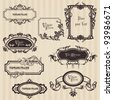 Vintage frames and design elements - with place for your text - stock