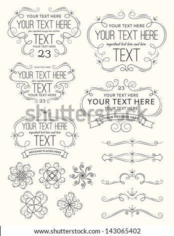 Vintage Frames and Elements - stock vector