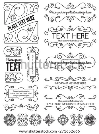 Vintage Frames and Elements two - stock vector