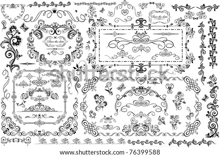 Vintage frames and heading - stock vector