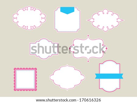 Vintage Frames & Borders - stock vector