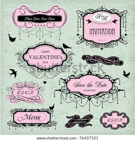 vintage frames design - stock vector