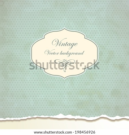Vintage frames on dot background - stock vector