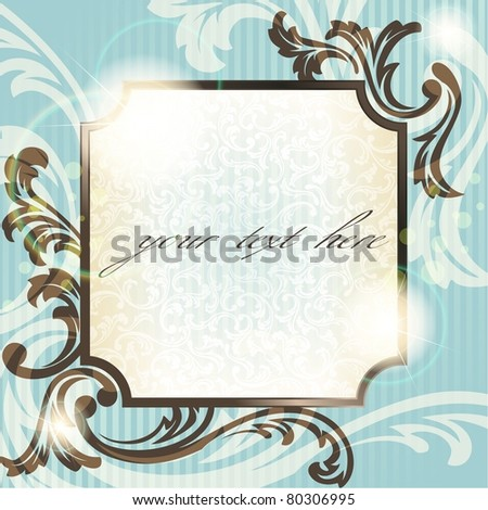 Vintage French retro background with transparencies (eps10); jpg version also available - stock vector