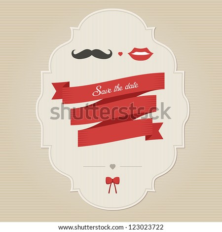 Vintage funny wedding invitation with place for text - stock vector