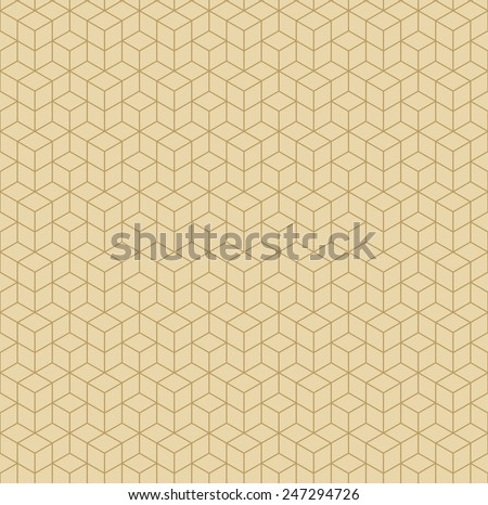 vintage geometric pattern. can by tiled seamlessly. - stock vector