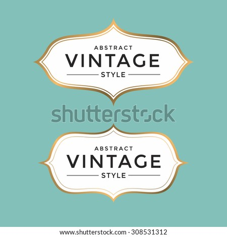 Vintage gold frame vector - stock vector