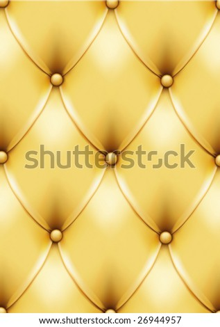Vintage gold leather pattern. VECTOR, made with gradient mesh. Can be easily used for seamless pattern creation! - stock vector