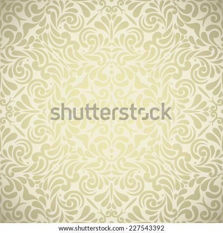 Vintage golden background ,Ornamental pattern - stock vector