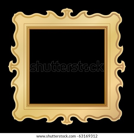vintage golden frame - stock vector