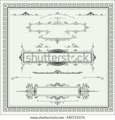 Vintage graphic  element  - stock vector