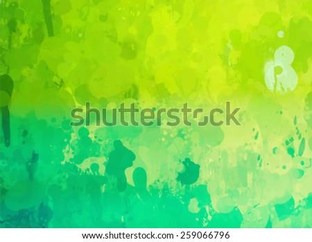 Vintage green brush strokes background. Vector version - stock vector