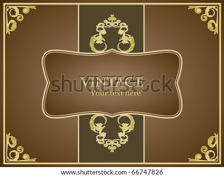 Vintage greeting card for any event (fully editable) - stock vector