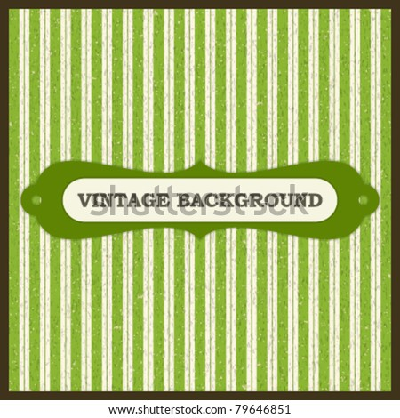 Vintage greeting card with ornament on old textured paper greeting card. Vector background Eps 10. - stock vector