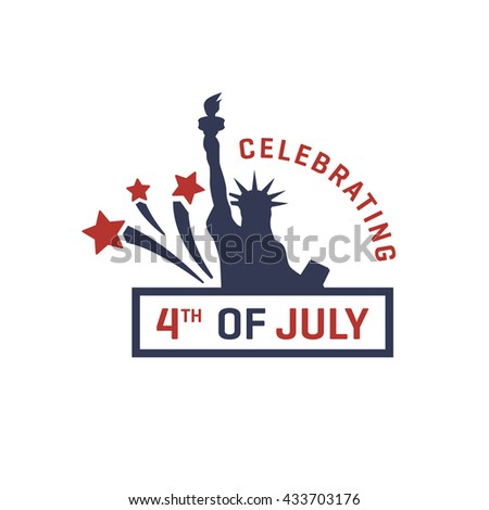 Vintage Greeting Cards. Fourth of July Greeting card. Happy Independence Day, United States of America, 4th of July, 1776-2016. Vector illustration
