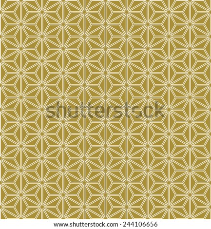 vintage grid background of gold triangles, in art deco style. can be tiled seamlessly. - stock vector