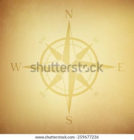 Vintage grunge compass - Vector - stock vector