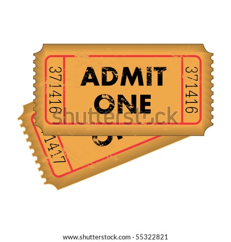 Vintage Grunge Vector Tickets - stock vector