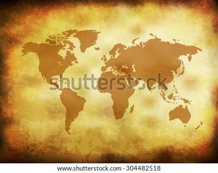 Vintage grunge world map eps 10 vector stock vector 304482518 vintage grunge world map eps10 vector gumiabroncs Choice Image