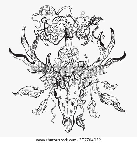 Cute Sheep besides 42502790204482192 additionally 15 Beautiful Tribal Phoenix Tattoos together with Tattoo Designs also Browning. on deer head stencils printable