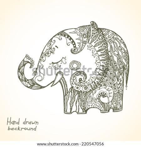 Stock Images similar to ID 147574409 - indian elephant illustration