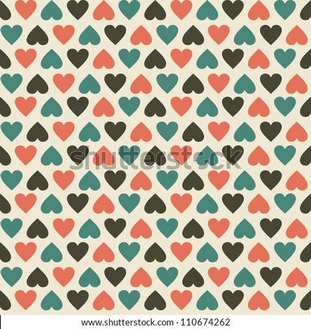 Vintage Hearts - stock vector