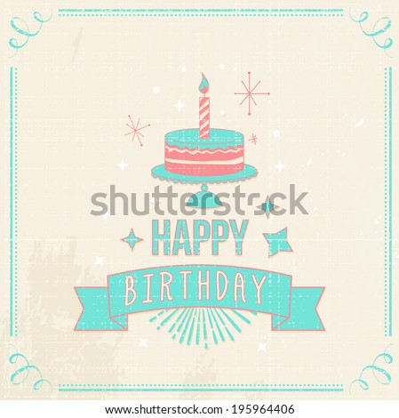 Birthday Cards Set Vector 196157930 Shutterstock – Hipster Birthday Cards