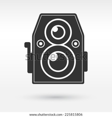 Vintage hipster photo or camera icon. Vector illustration