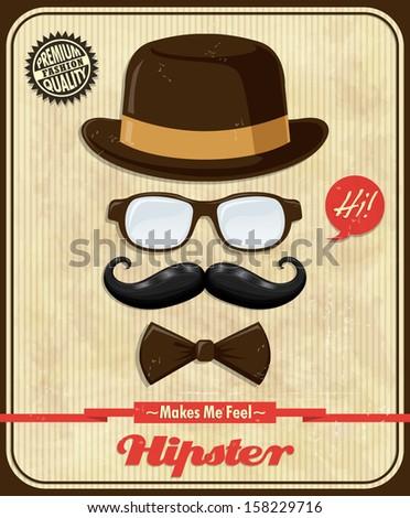 Vintage Hipster poster design  - stock vector