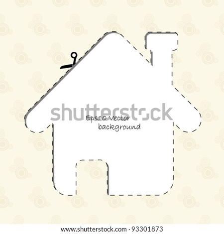 Vintage house background - stock vector